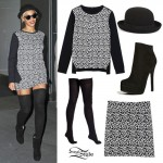 Beyonce: Leopard Print Sweater & Skirt