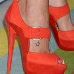 candice-accola-star-foot-tattoo