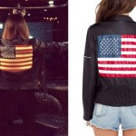 Christina Perri: American Flag Leather Jacket
