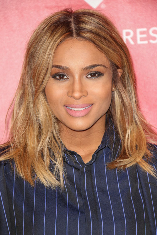 Ciara Wavy Honey Blonde Loose Waves Hairstyle | Steal Her ...