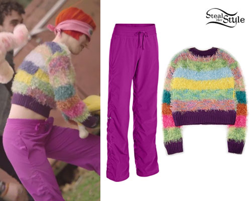 Hayley Williams: 'Ain't It Fun' Purple Pants | Steal Her Style