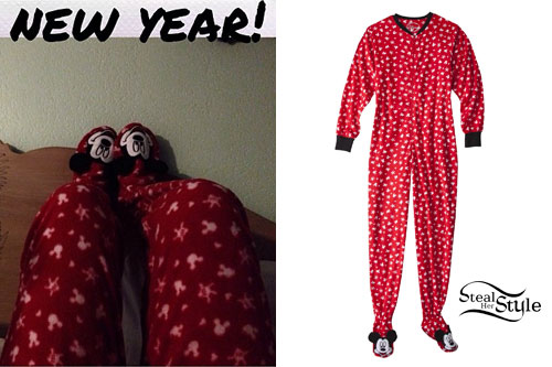 Hayley Williams: Mickey Mouse Onesie Pajamas