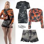 Iggy Azalea: Lace Trim Denim Shorts