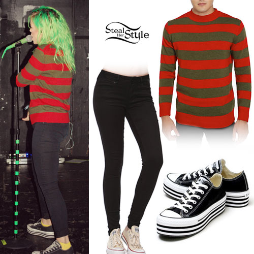 Jenna McDougall: Red & Green Striped Sweater