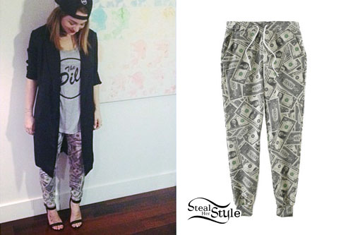 JoJo: Dollar Bill Print Sweatpants