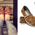 Juliet Simms: Tiger Print TOMS Shoes