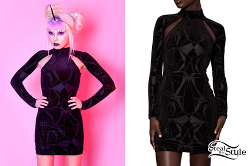 kerli-burnout-velvet-dress
