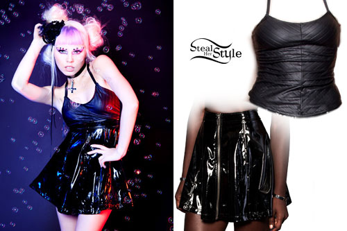 kerli-striped-tank-vinyl-skirt