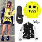 Lil Debbie: Varsity Jacket, Nike Sandals