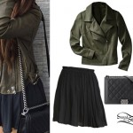 Madison Beer: Chanel Bag, Olive Jacket