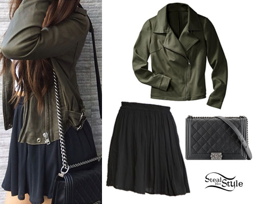 Madison Beer: Chanel Bag, Olive Jacket
