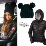 Madison Beer: Down Jacket, Ear Beanie