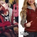Mariel Loveland: Gray & Red Varsity Jacket