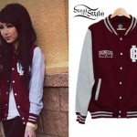 Melissa Marie Green: Burgundy Varsity Jacket