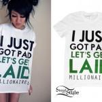 Melissa Marie Green: Just Got Paid T-Shirt
