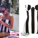 My Name Is Kay: Striped Strapless Bodysuit