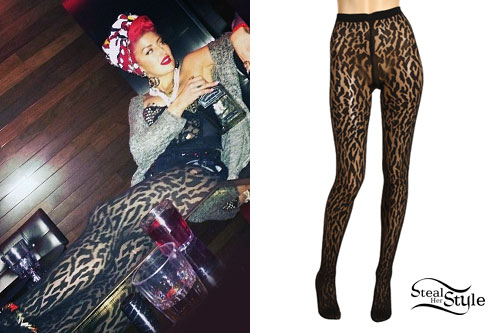 Neon Hitch: Leopard Print Tights