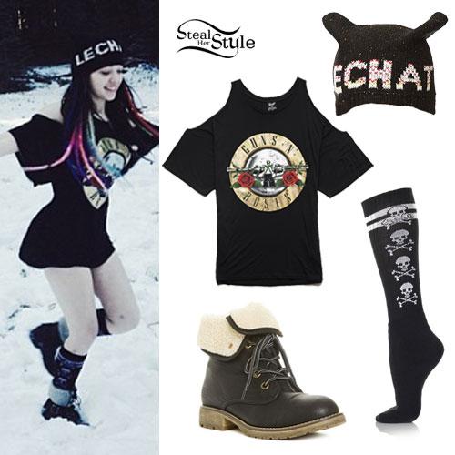 Rena Lovelis: Guns N Roses Tee Outfit