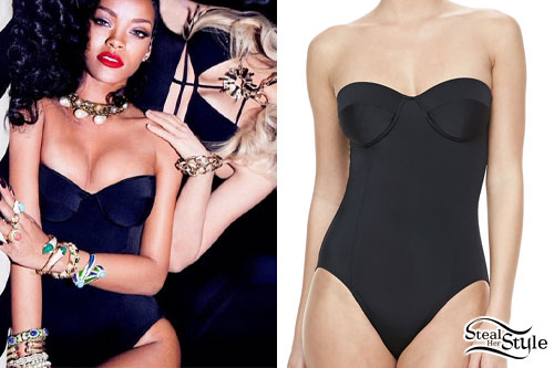 Rihanna: Strapless Swimsuit