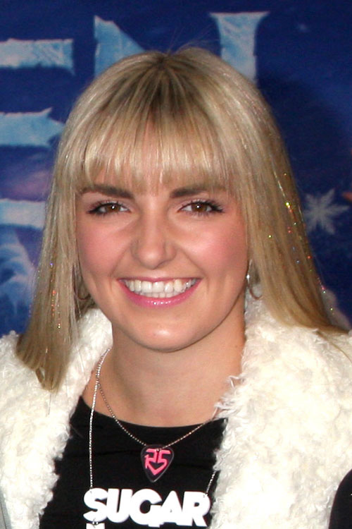 Rydel Lynch Straight Ash Blonde Straight Bangs Hairstyle