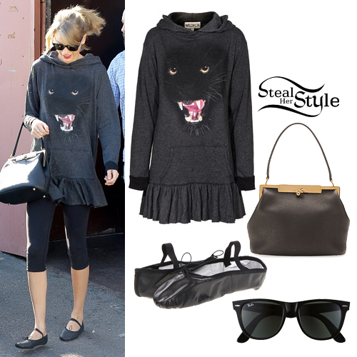 Taylor Swift leaving a dance studio in Los Angeles January 18th, 2014 - photo: taylorpictures.net