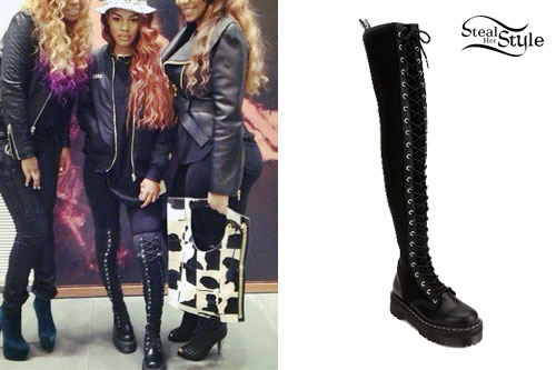 Teyana Taylor: Knee-High Dr Martens Boots