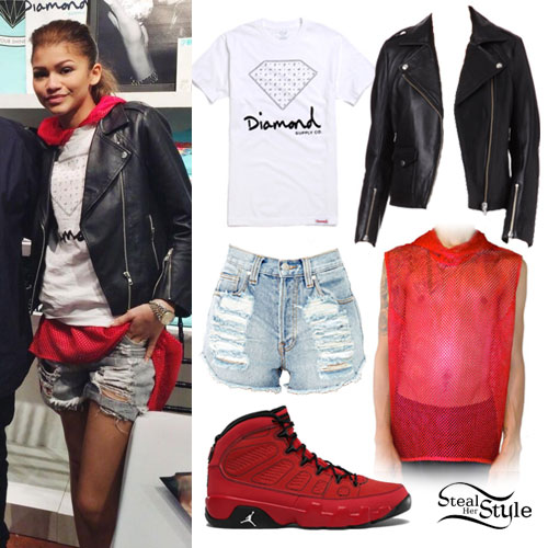 Zendaya: Diamond Supply Co Tee Outfit