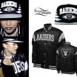 Zendaya: Oakland Raiders Hat & Jacket