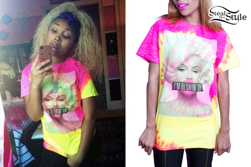 Zonnique Pullins Tie Dye T Shirt Steal Her Style