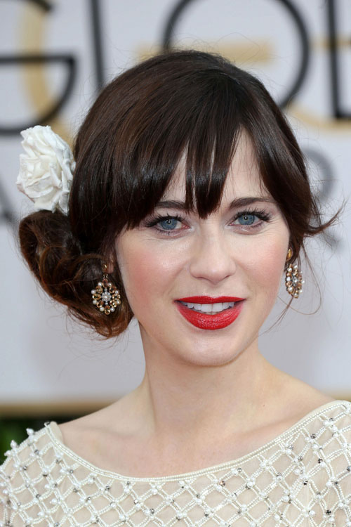Zooey Deschanel's Hairstyles & Hair Colors | Steal Her Style