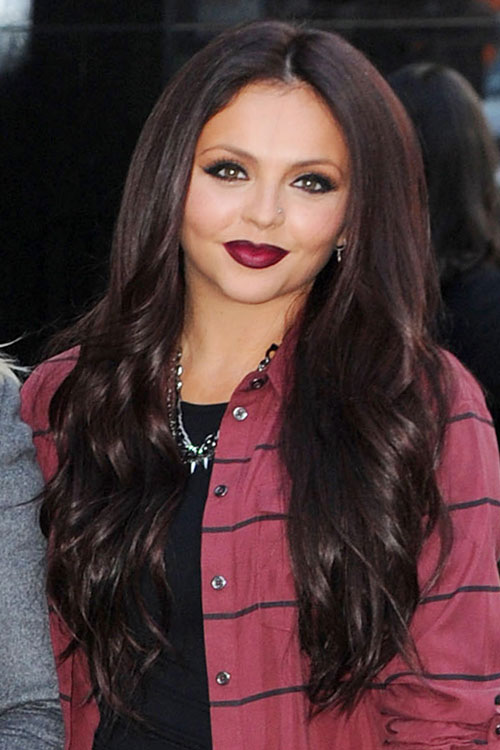jesy nelson wavy medium brown hairstyle steal her style