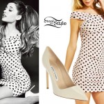 Ariana Grande: Pink Polka Dot Dress