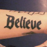 ash-costello-believe-arm-tattoo