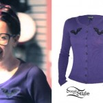 Ash Costello: Purple Bat Cardigan