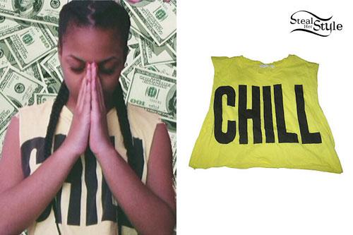 Bahja Rodriguez: 'CHILL' Crop Top