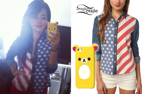 Becky G: Stars & Stripes Button-Up Shirt