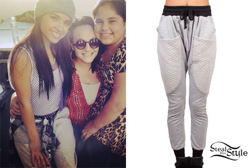 Becky G: Gray Quilted Joggers