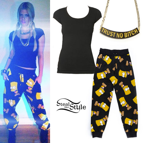 Chanel West Coast: Bart Simpson Sweatpants