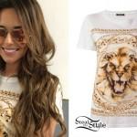 Cheryl Cole: Chain Print T-Shirt