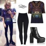 Ellie Goulding: Church Print Tee Outfit