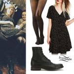 Ellie Goulding: Print Dress, Spike Tights