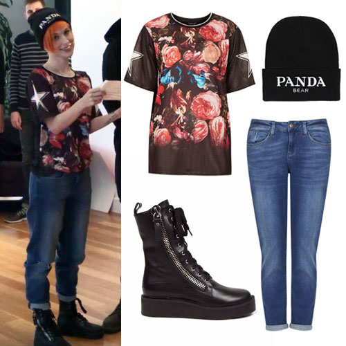 Hayley Williams: Floral Star Jersey