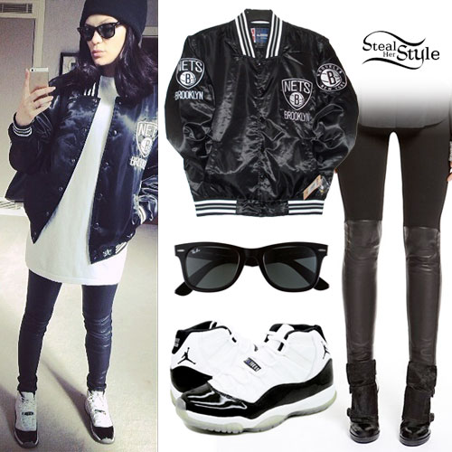Jessie J: Brooklyn Nets Jacket Outfit