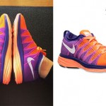Jessie J: Purple & Orange Nike Sneakers
