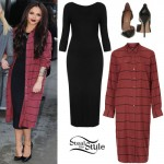 Jesy Nelson: Black Dress, Striped Shirt