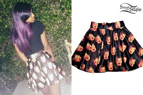 Justine Skye: Home Alone Print Skirt
