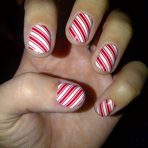 Celebrity nail art photos with candy cane steal her style katy perry prinsesfo Choice Image