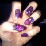 katy-perry-nails-purple-glitter