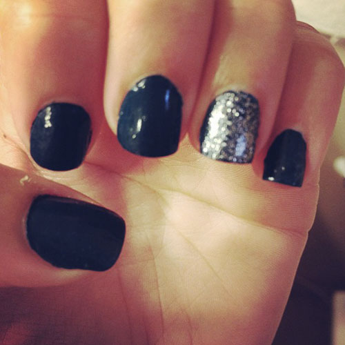 Squoval Silvers: Squoval Shaped Nails