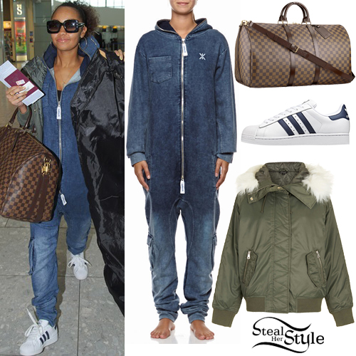 7ac045d9b Leigh-Anne Pinnock: Washed Onesie Outfit | Steal Her Style